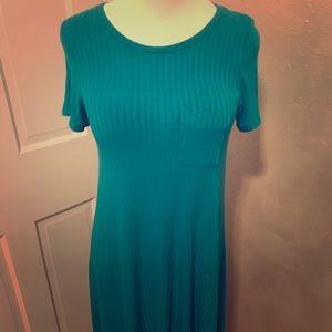 LuLaRoe Turquoise Carly size small.
